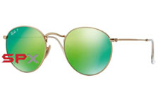 Ray Ban RB3447 112/P9 Round Metal Polarized
